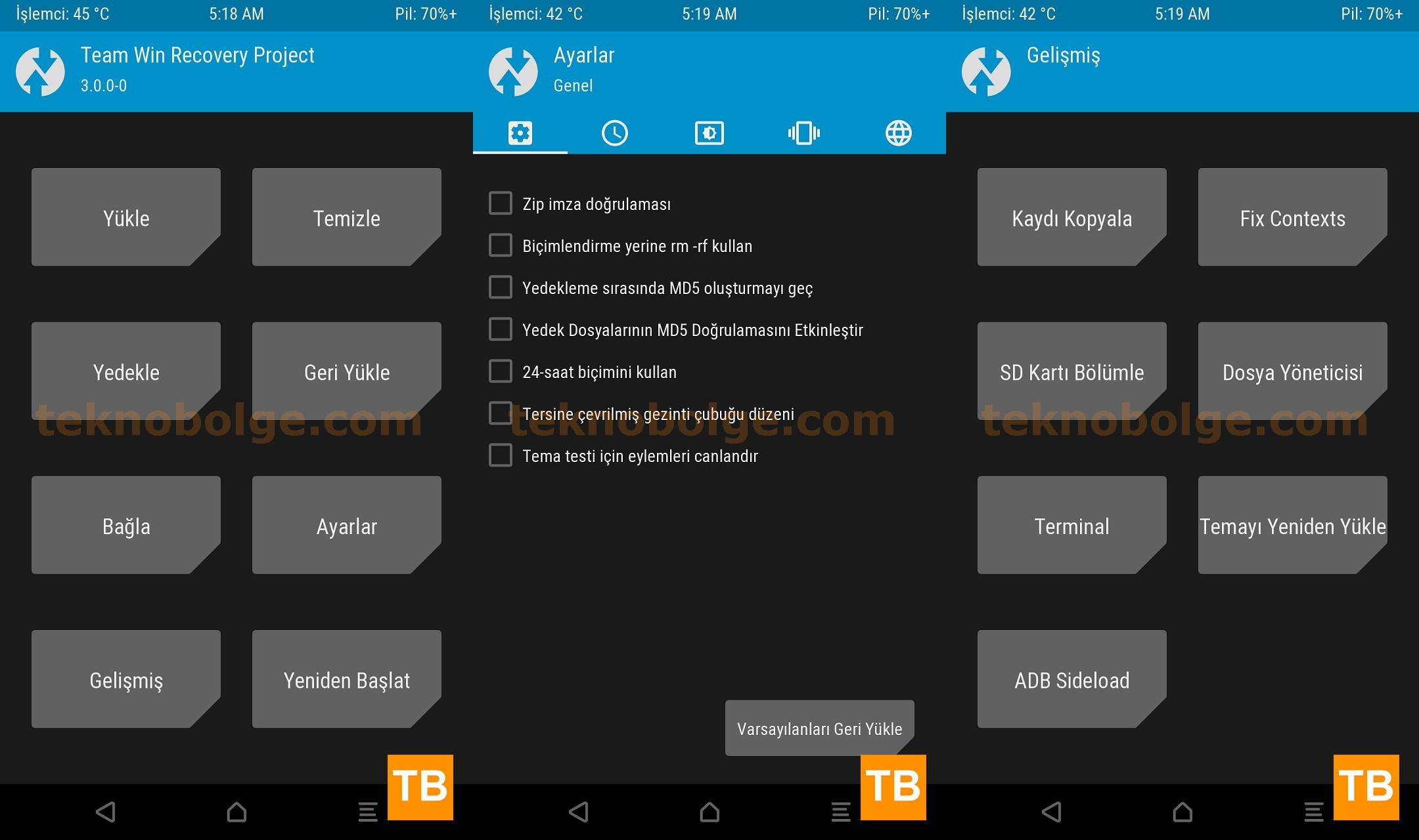TWRP Recovery 3.0.0
