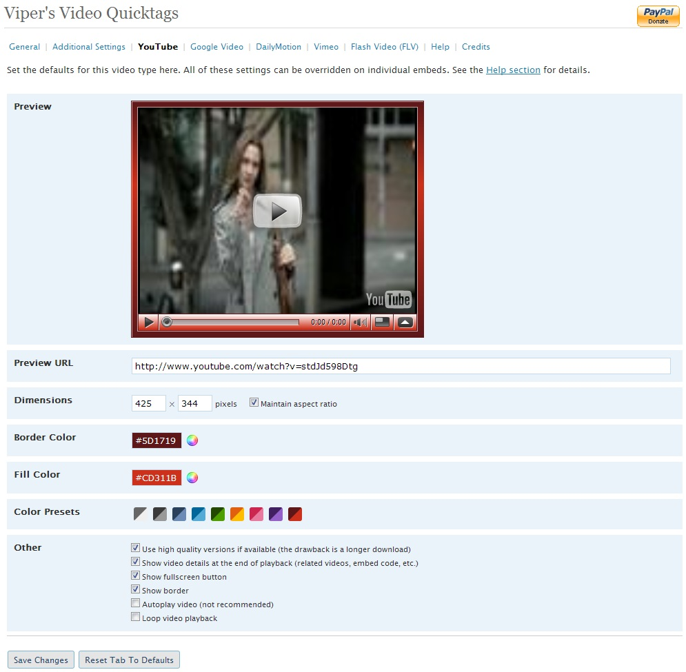 WordPress - Viper's Video QuickTags